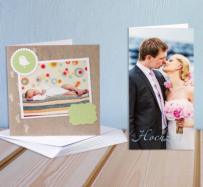 einladungskarten & postkarten selbst gestalten | rossmann fotowelt, Einladungsentwurf