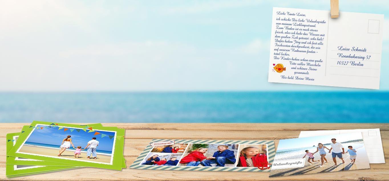 einladungskarten postkarten selbst gestalten rossmann fotowelt. Black Bedroom Furniture Sets. Home Design Ideas